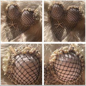 Handmade mermaid shell bra
